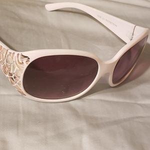 Womens Creamish White Sunglasses